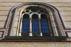 布达佩斯犹太教堂塔 库存图片