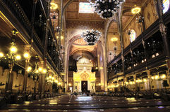 布达佩斯犹太教堂 免版税图库摄影
