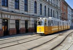 布达佩斯电车 库存照片