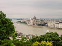 布达佩斯的匈牙利议会大厦或议会 免版税库存图片