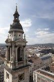 布达佩斯的看法有圣Stephan大教堂的  库存图片