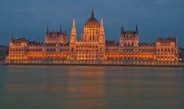 布达佩斯的议会 免版税图库摄影