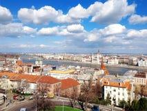 布达佩斯的顶视图 库存照片