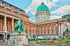 布达佩斯皇家城堡-王宫的庭院在布达佩斯 库存照片