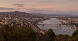 布达佩斯看法从Gellert山的 免版税图库摄影