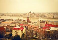 布达佩斯看法  库存照片