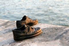 布达佩斯纪念碑鞋子 图库摄影