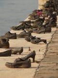 布达佩斯纪念碑鞋子 免版税库存图片