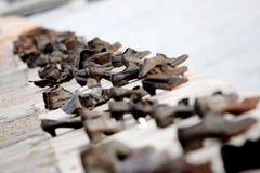 布达佩斯纪念碑鞋子 免版税库存照片