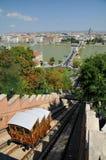 布达佩斯缆索铁路的宫殿铁路 免版税库存照片