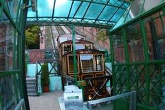 布达佩斯缆索铁路老 库存照片