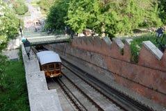 布达佩斯缆索铁路城堡的小山 库存照片