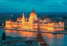 布达佩斯美丽的首都在匈牙利 库存图片