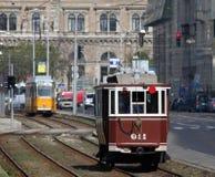 布达佩斯老电车 库存图片