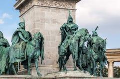 布达佩斯英雄正方形 免版税库存照片