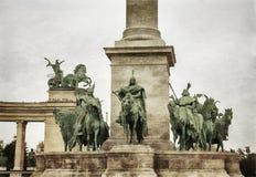 布达佩斯英雄正方形 库存图片