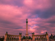 布达佩斯英雄正方形 免版税库存图片