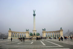 布达佩斯英雄`正方形 库存照片