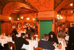 布达佩斯著名MatyaÌ€s潘斯餐馆匈牙利的 免版税图库摄影