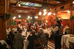 布达佩斯著名MatyaÌ€s潘斯餐馆匈牙利的 库存图片