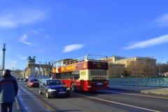 布达佩斯街道视图 免版税库存图片
