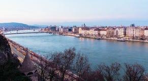 布达佩斯视图和多瑙河 库存照片