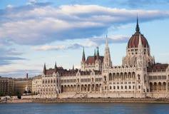 布达佩斯议会观看 免版税库存照片