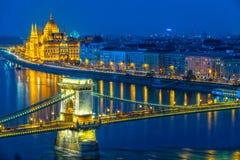 布达佩斯议会,布达佩斯,匈牙利 免版税库存照片