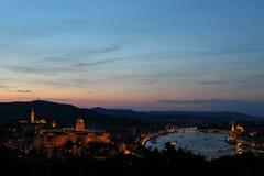 布达佩斯都市风景在匈牙利在日出早晨时间 免版税库存图片