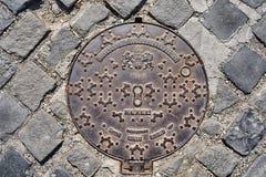 布达佩斯铁人孔盖 免版税库存照片
