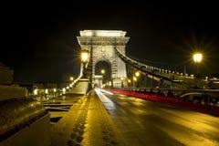 布达佩斯铁锁式桥梁 库存图片