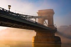 布达佩斯铁锁式桥梁 免版税图库摄影