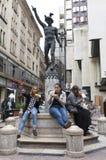 布达佩斯青年时期 库存照片