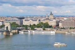布达佩斯顶视图 免版税库存图片