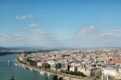 布达佩斯鸟瞰图  免版税库存照片