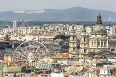 布达佩斯,匈牙利鸟瞰图 库存照片