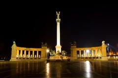 布达佩斯,匈牙利,英雄`正方形 库存图片