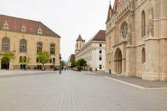 布达佩斯,匈牙利- 2018年4月17日:圣马赛厄斯教会  免版税库存图片