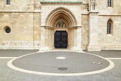 布达佩斯,匈牙利- 2018年4月17日:圣马赛厄斯教会  库存照片