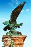 布达佩斯,匈牙利03日2016年:阿提拉老鹰雕塑与 免版税库存图片
