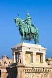 布达佩斯,匈牙利- 2015年11月5日:圣斯德望国王纪念碑 免版税库存照片