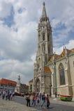 布达佩斯,匈牙利- 2010年5月19日:天主教马赛厄斯Churc 库存照片