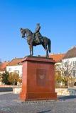 布达佩斯,匈牙利- 2015年11月5日:对阿尔图尔Gorgey,匈牙利军事领导的纪念碑 图库摄影