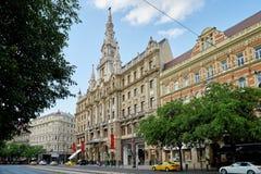 布达佩斯,匈牙利- 2017年6月3日:旅馆Boscolo布达佩斯,前 库存照片