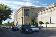 布达佩斯,匈牙利- 2012年8月08日:艺术博物馆的侧视图在布达佩斯 库存图片