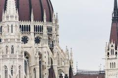 布达佩斯,匈牙利- 2015年12月10日:议会在布达佩斯 库存照片