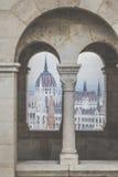 布达佩斯,匈牙利- 2015年12月10日:议会在布达佩斯 免版税库存图片