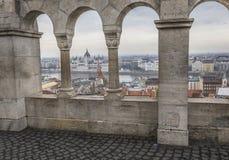 布达佩斯,匈牙利- 2015年12月10日:议会在布达佩斯 免版税库存照片