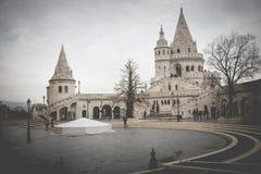布达佩斯,匈牙利- 2015年12月10日:Bu的渔夫的本营 库存照片