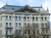 布达佩斯,匈牙利- 2015年1月04日:CIB银行的外部自由正方形的 免版税库存图片